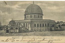 Jerusalem Turquie Mosquée Omar No 4708 P. Used To Tumme Stamp Removed - Palestine
