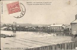 TROYES Rue De La Vacherie Les Inondations Sur Les Cultures Maraichères - Troyes