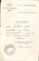 Ordre De Mission - Estelle Gilbert Loiret -  Académie De Bordeaux - 1/7/ 1940 - Vieux Papiers