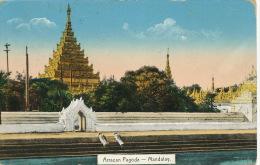 Myanmar Burma Arracan Pagoda Mandalay P. Used 1912 3 Stamps To Budapest Hungary No 135 D.A. Ahuja Rangoon - Myanmar (Burma)