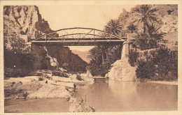 Algeria El Kantara Passerelle Sur L'Oued - Biskra