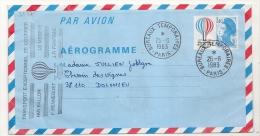 TRANSPORT EXEPTIONNEL DE COURRIER PAR BALLON. Bicentenaire De L 'Air Et De L 'Espace . - Postmark Collection (Covers)