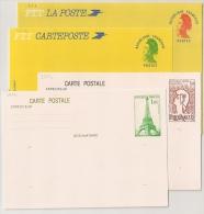 4 ENTIERS : 2 GANDON + PHILEXFRANCE 82 + TOUR EIFFEL. Tous SUP ! - Postmark Collection (Covers)