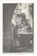 10303 -  Drapeau Nazzi Militaire à La Fontaine Et Enfant 1940-45 - Postcards