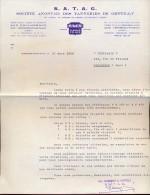 Facture Faktuur - SATAG - Tanneries De Gentilly - Ferrières En Gatinais 1958 - Factures & Documents Commerciaux