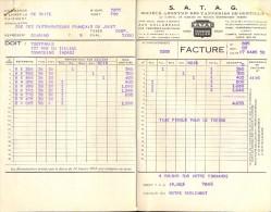 Facture Faktuur - SATAG - Tanneries De Gentilly - Ferrières En Gatinais 1958 - 2 P. - Factures & Documents Commerciaux