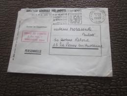Lettre  Franchise Civile  Franchise Postale  Direction Des Impots  St Etienne  >> La Penne Sur Huveaune  1969 - Marcophilie (Lettres)