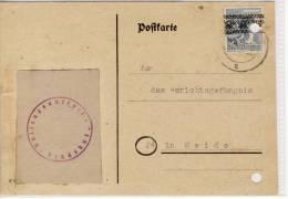 RENDSBURG - Postkarte Der Vollzugsanstalt,  1948 - Officials