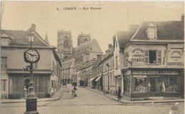 CPA 80 CORBIE Rue Hersant, Animée Avec Commerces - Corbie