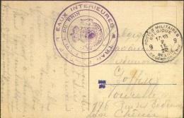 """Kaart van BLP 9 1922 naar Chen�e met """"Transport par Eaux Int�rieures / Service du Rhin""""."""