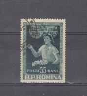 1956, CONF. INTL. DU TRAVAIL FEMININ A BUCAREST,  MI No 1595 Et Yv No 1456 - 1948-.... Republiken