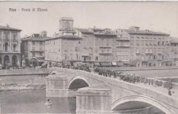 PISA-PONTE DI MEZZO -ANIMATISSIMO--BELLA E BEN CONSERVATA- - Pisa