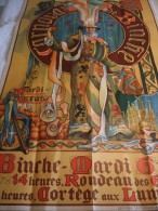 Province de Hainaut � Carnaval et Gilles de Binche - EO 1910 - superbe �tat et rarissime