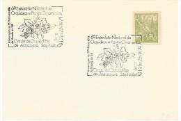 Brasile, Fiori, Orchidee, Annullo 21/5.8.1974 Targhetta 6a Esposizione Nazionale Di Piante Ornamentali. - Non Classificati