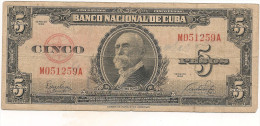 CUBA  5 PESOS 1949