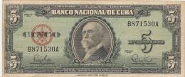 CUBA  5 PESOS 1960