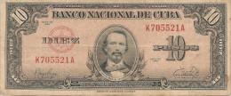 CUBA  10  PESOS 1949