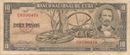 CUBA  10  PESOS 1956
