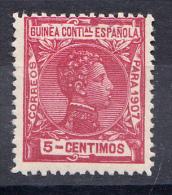 GUINEA 1907 . ALFONSO XIII 5 CENT.   EDIFIL Nº 47   NUEVO CON CHARNELA  SES 044 - Guinea Española