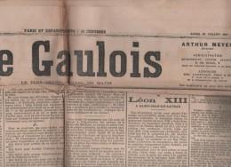 LE GAULOIS 22 07 1907 - ALLIANCE FRANCO RUSSE - MONUMENT LEON XIII ST JEAN DE LATRAN - COREE - GRECE - SPORTS - Informations Générales