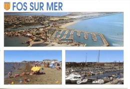Fos Sur Mer : Multivues N°108 éd Nanou (aérienne Port Yachts Plage) - France