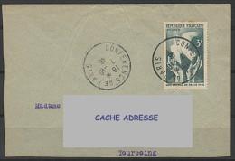 1946 CACHET CONFERENCE DE PARIS SUR Y&T 761 - Matasellos Provisorios