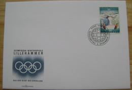 1994 LIECHTENSTEIN FDC 1 WINTER OLYMPIC GAMES LILLEHAMMER NORWAY SKI JUMPING - Winter 1994: Lillehammer