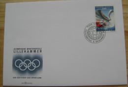 1994 LIECHTENSTEIN FDC 3 WINTER OLYMPIC GAMES LILLEHAMMER NORWAY BOB - Winter 1994: Lillehammer