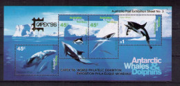 "AUSTRALIAN ANTARTIC TERRITORY Capex 96  ""whales & Dolphins"" - Territoire Antarctique Australien (AAT)"