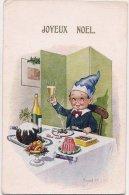 """L28.134 - Joyeux Noël - Carte """"Comique"""" Florence House N°7380 - Donald - Noël"""