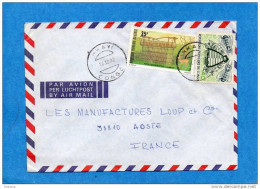 MARCOPHILIE-lettre- CONGO- Cad NKAYI-1982-2-stamp N°341 Insect Abeille-ruche+ Piège Oiseaux -Pour  Françe - Congo - Brazzaville