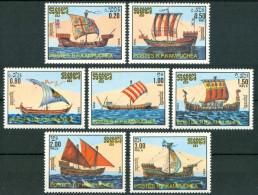 1986 Kampechea Barche A Vela Sailboats Voliers Set MNH** Qq36 - Kampuchea