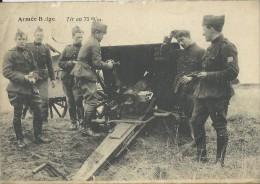 Armée Belge.  -  Tir Au  75 M/m  (hoekje Met Plooi) - Matériel