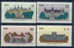 BL3-524 DDR, EAST GERMANY 1986 MI 3032-3035 ARCHITECTURE, CASTLES, CHATEAUX, BURGEN, KASTELEN. MNH, POSTFRIS, NEUF** - Kastelen