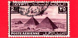 EGITTO - Usato - 1943 - Aereo Che Vola Sopra Le Piramidi Di Giza - 25 Posta Aerea - Poste Aérienne
