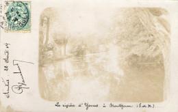 91.MONTGERON.......CPA....PHOTO...1904.....LA RIVIERE D'YERRES.........LOT F1372 - Montgeron