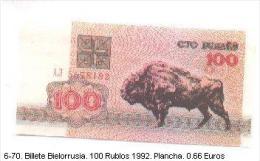 6-70. Billete Bielorrusia P-8. 100 Rublos 1992. Plancha - Belarus