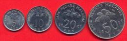 Malaysia 2007 Coins Set AXF - UNC (Set - 4 Coins) 5, 10, 20, 50 Sen - Malaysie