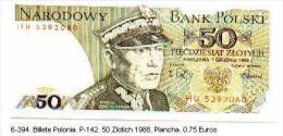 6-394. Billete Polonia. P-142. 50 Zlotych 1988. Plancha - Polonia