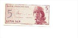 6-406. Billete Indonesia. 5 Lima Sen 1964. Plancha - Indonesia