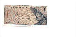 6-407. Billete Indonesia. 1 Satu Sen 1964. Plancha - Indonésie