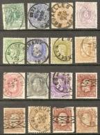 Lotje gestempeld van nr.26 tot nr.37. hoge cataloguswaarde (4 zegels van nr.37-37A bijgevoegd zijn VALS OF 2e KEUS)