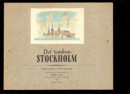 BEAUTIFUL DET VACKRA STOCKHOLM En Anglais Et En  Suédois 1953 RARE Et MAGNIFIQUE  EBBE FOG  ESKIL HOLM - Langues Scandinaves
