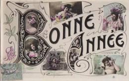 Belle CPA  ART NOUVEAU    BONNE ANNEE    Jolies FEMMES Décolletées Epaules Nues - Año Nuevo
