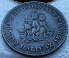SUPERBE  HALFPENNY  TOKEN 1815 HALIFAX CANADA - Canada
