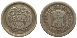 2 Reales 1872 (Guatemala) Silver - Guatemala