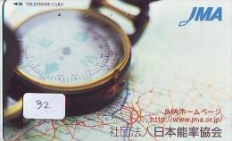 Télécarte Japon * COMPASS * JAPAN (32) KOMPAS * KOMPASS * Phonecard * TELEFONKARTE - Astronomie