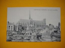 Cpa  AMIENS - 80 -  Cathédrale  - Vue De La Rue Bélu -    Somme - Amiens