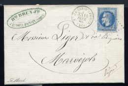 Lettre De St Chély D'Apcher Pour Marvéjols 1869 - 1849-1876: Période Classique