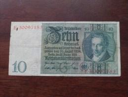 ZEHN Reichsmark Berlin 1929 E 30097183 ( For Grade, Please See Photo ) ! - [ 3] 1918-1933 : République De Weimar